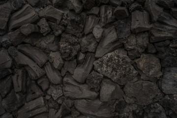 Hintergrund Steine Schlacke Hochofenschlacke sehr dunkel low-key - Background stones slag blast furnace slag very dark low-key