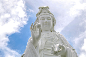 World most beauty art of the Mother goddes Guan Yin statue / Tsz Shan Monastery HongKong