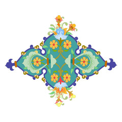 abstract oriental mosaic decorative colorful World Ornaments graphic