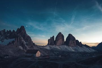 Nightscape at Tre Cime di Lavaredo, Italian Dolomites Fototapete