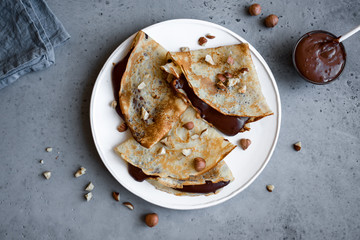 Crepes with chocolate