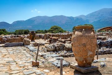Antike Amphore in Malia in Kreta, Griechenland