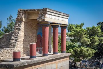 Ruinen im Palast von Knossos in Kreta, Griechenland