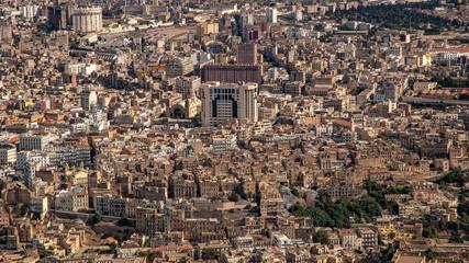 Panorama aerial view of city Oran, Algeria