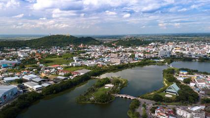 Areal Panorama View of Nakornsawan City