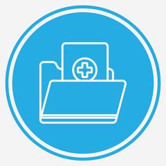 Medical history vector icon sign symbol