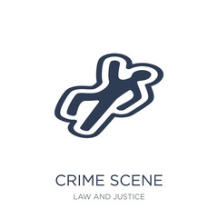 Crime scene icon. Trendy flat vector Crime scene icon on white background from law and justice collection