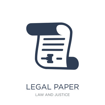 Legal paper icon. Trendy flat vector Legal paper icon on white background from law and justice collection