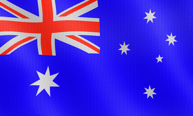 Illustration of a flying Australian flag
