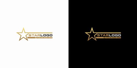 Modern gold star logo design vector. Stars logo design concept