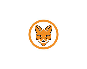 Fox logo vector template illustrator