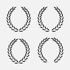 icon laurel wreath, spotrs design