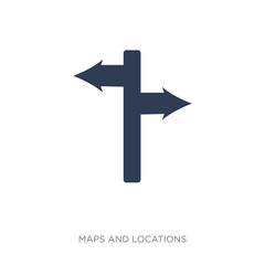 Signage icon. Trendy flat vector Signage icon on white background from Maps and Locations collection