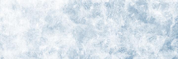Textur blaues Eis, Winter Hintergrund für Werbeflächen