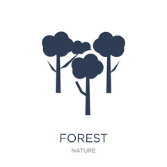 Forest icon. Trendy flat vector Forest icon on white background from nature collection