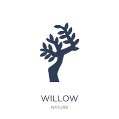 Willow icon. Trendy flat vector Willow icon on white background from nature collection