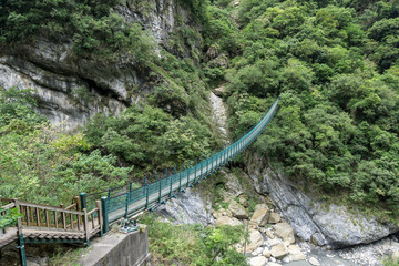 zhuilu suspension bridge in Taroko