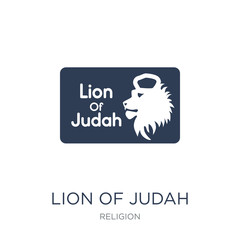 Lion of Judah icon. Trendy flat vector Lion of Judah icon on white background from Religion collection