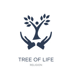 Tree of Life icon. Trendy flat vector Tree of Life icon on white background from Religion collection