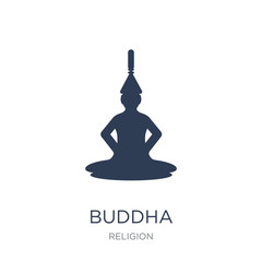 Buddha icon. Trendy flat vector Buddha icon on white background from Religion collection