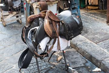 Leather Saddle to the Naples market