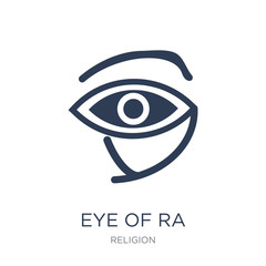 Eye of ra icon. Trendy flat vector Eye of ra icon on white background from Religion collection