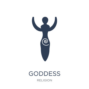 Goddess icon. Trendy flat vector Goddess icon on white background from Religion collection