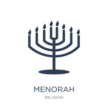 Menorah icon. Trendy flat vector Menorah icon on white background from Religion collection