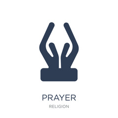 Prayer icon. Trendy flat vector Prayer icon on white background from Religion collection