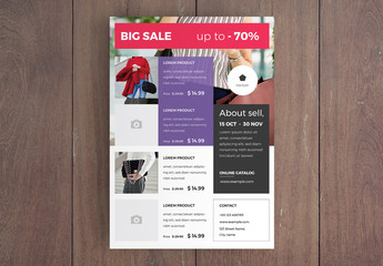 Shopping Sale Flyer Layout