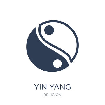 Yin Yang icon. Trendy flat vector Yin Yang icon on white background from Religion collection