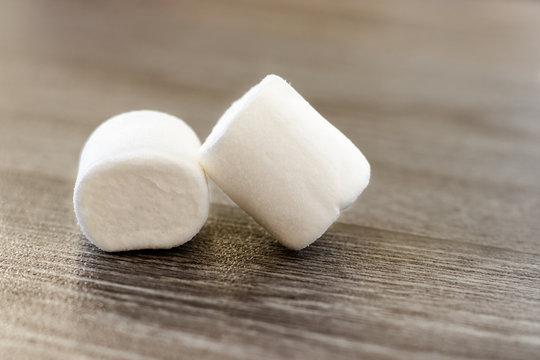Marshmallows in white bowl