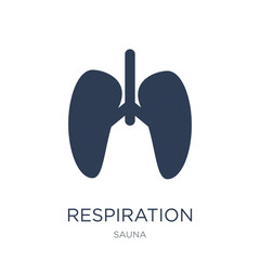 Respiration icon. Trendy flat vector Respiration icon on white background from sauna collection