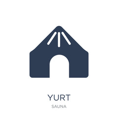 Yurt icon. Trendy flat vector Yurt icon on white background from sauna collection