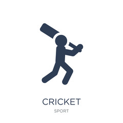 Cricket icon. Trendy flat vector Cricket icon on white background from sport collection