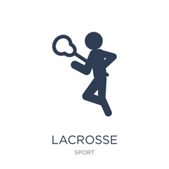 Lacrosse icon. Trendy flat vector Lacrosse icon on white background from sport collection