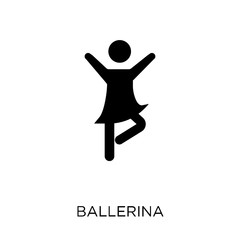 Ballerina icon. Ballerina symbol design from Activity and Hobbies collection.