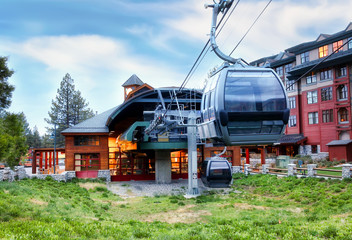 Lake Tahoe / CA / USA - Gondola starting location