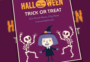 Halloween Event Flyer Layout