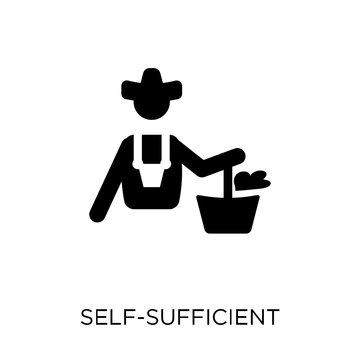 self-sufficient icon. self-sufficient symbol design from Agriculture, Farming and Gardening collection.