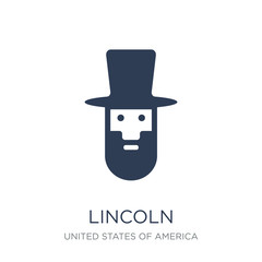 Lincoln icon. Trendy flat vector Lincoln icon on white background from United States of America collection
