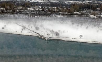 The snowy winter landscape