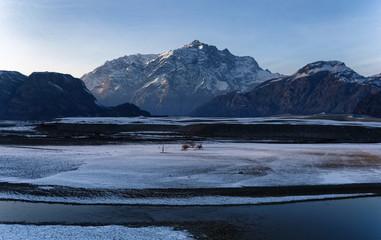 Indus River Winter Landscape