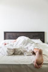 Foot of Sleeping Man