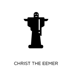 Christ the redeemer icon. Christ the redeemer symbol design from Architecture collection.