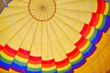 Colourful hot air ballon