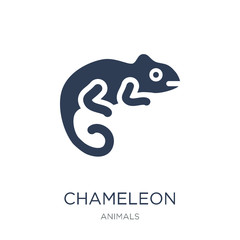 Chameleon icon. Trendy flat vector Chameleon icon on white background from animals collection