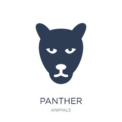 Panther icon. Trendy flat vector Panther icon on white background from animals collection