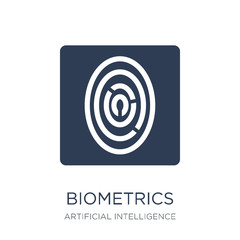 Biometrics icon. Trendy flat vector Biometrics icon on white bac