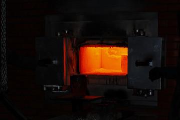 hot glow in a furnace